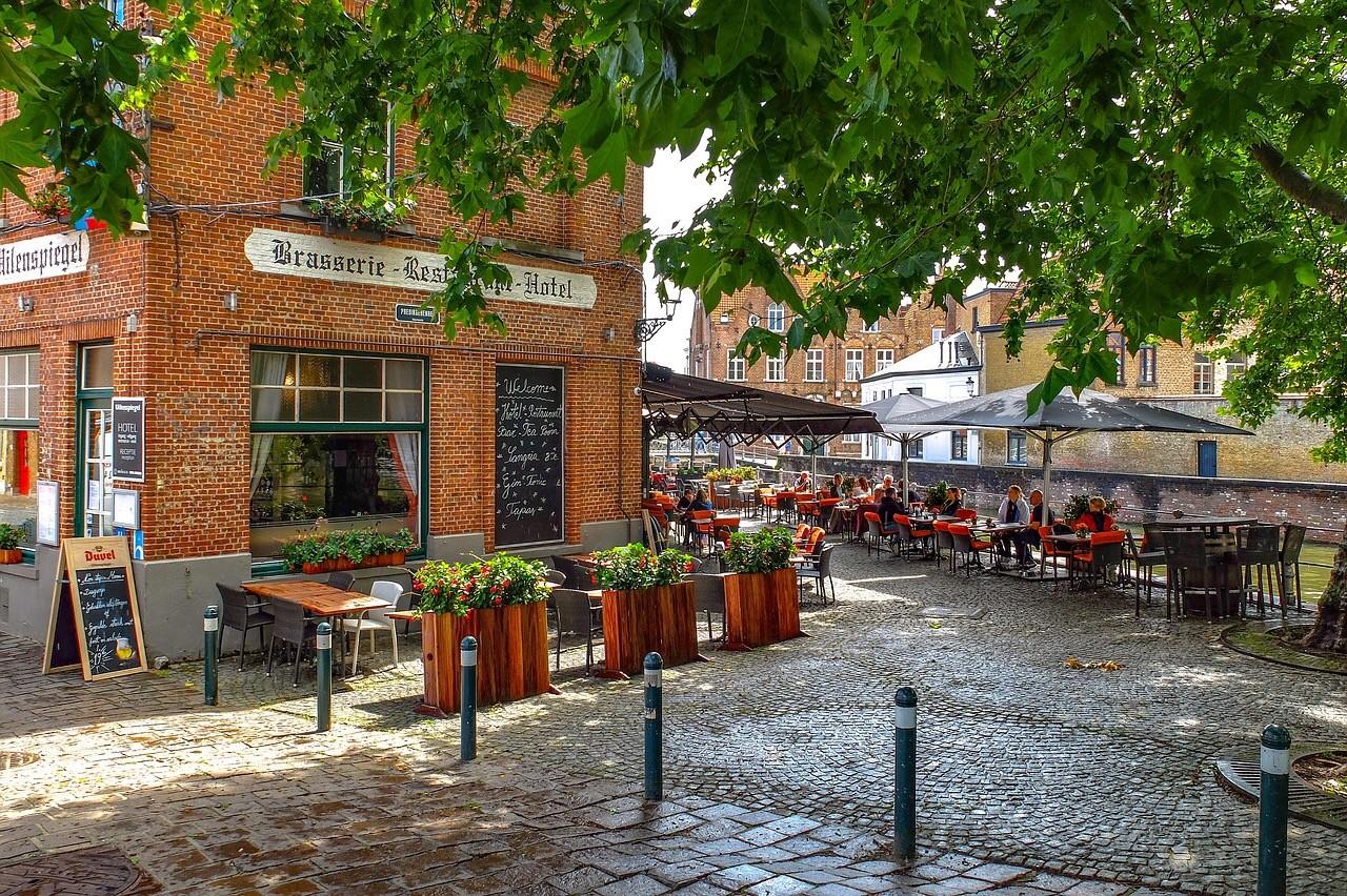 A cafe in Brugge. Belgium