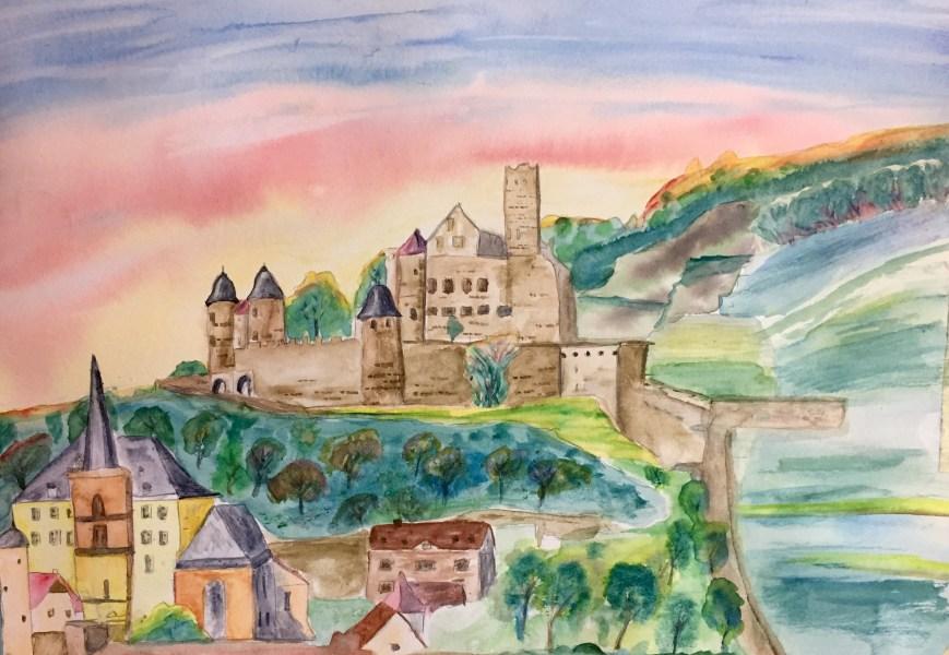 Wertheim castle painting