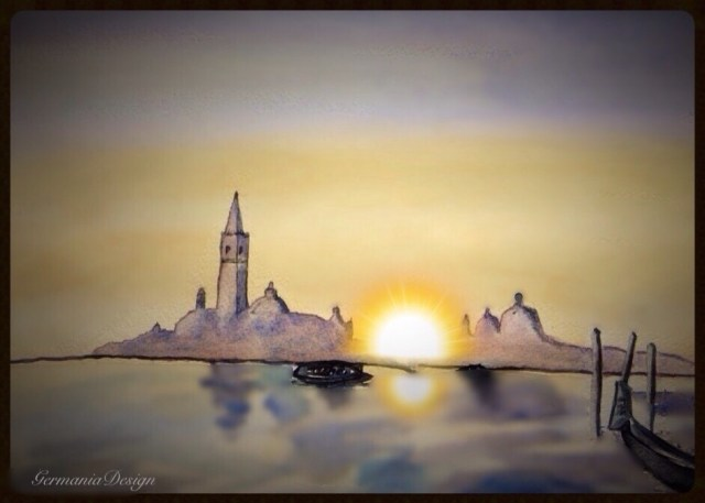 Venice sunrise painting