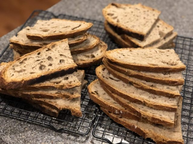 German Bauernbrot or whole wheat crusty bread