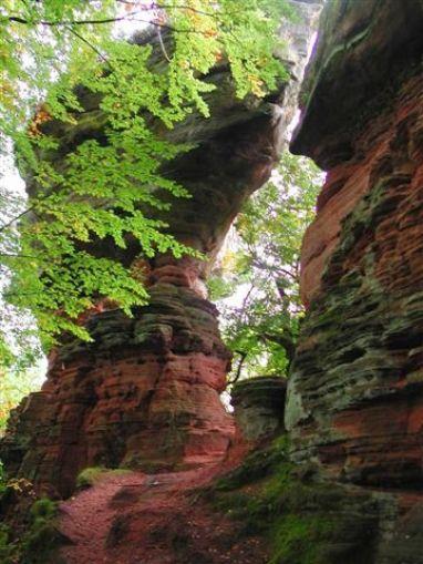 Altschlossfelsen red rock formation