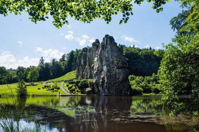 Externsteine, Teutoburger Wald, Altschlossfelsen, Rheinland-Pfalz