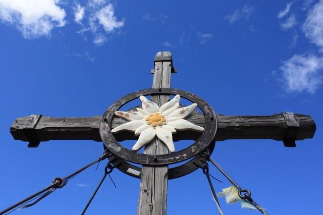 Edelweiss on a cross, brand