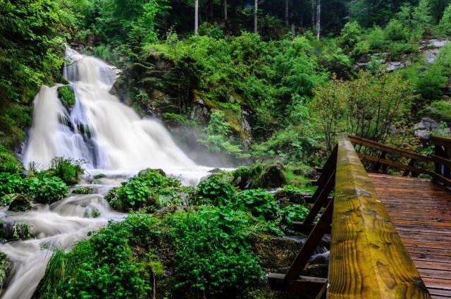 Triberg waterfall bridge