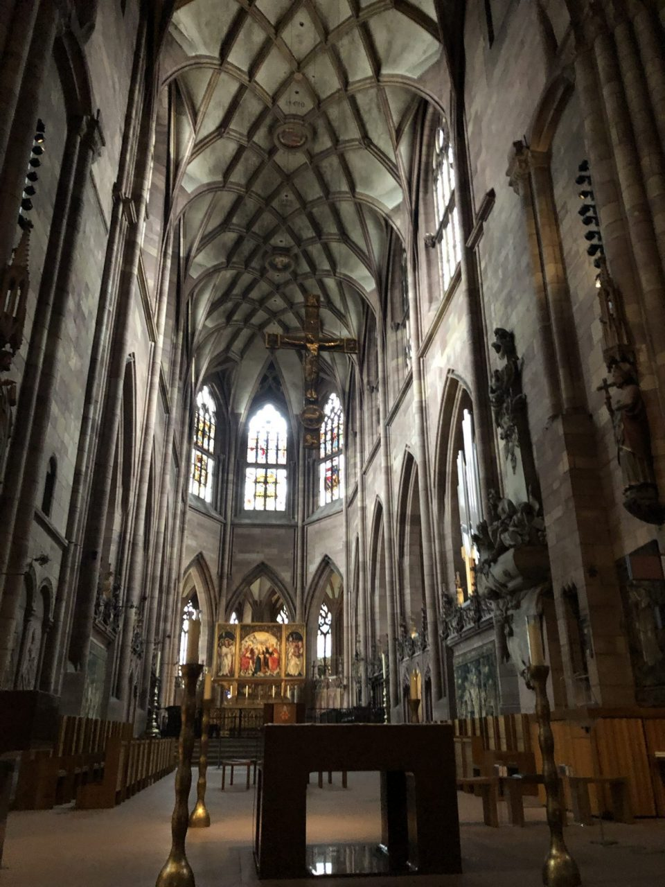 Interior of Freiburg Münster