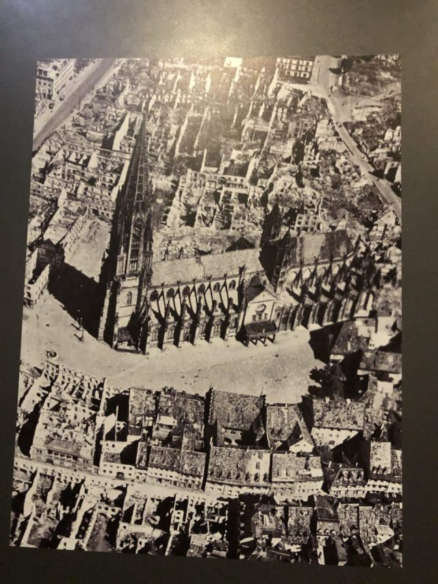 Freiburg Cathedral, Muenster damaged in WWII
