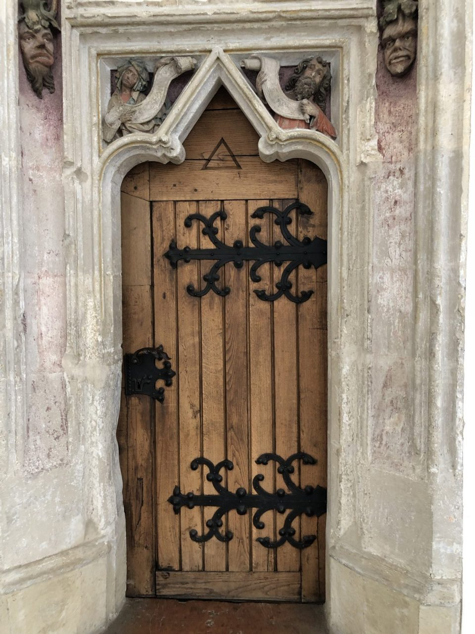Historic door in Landshut