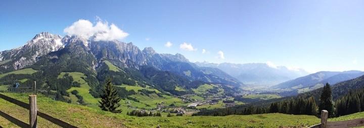 Mountains I saw on the way to Going, Austria