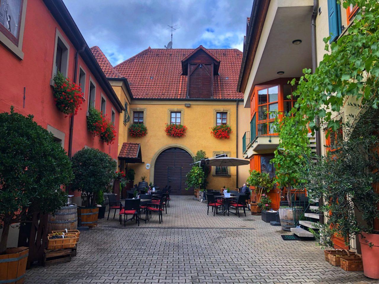 Sommerach Vintner courtyard, Franconia