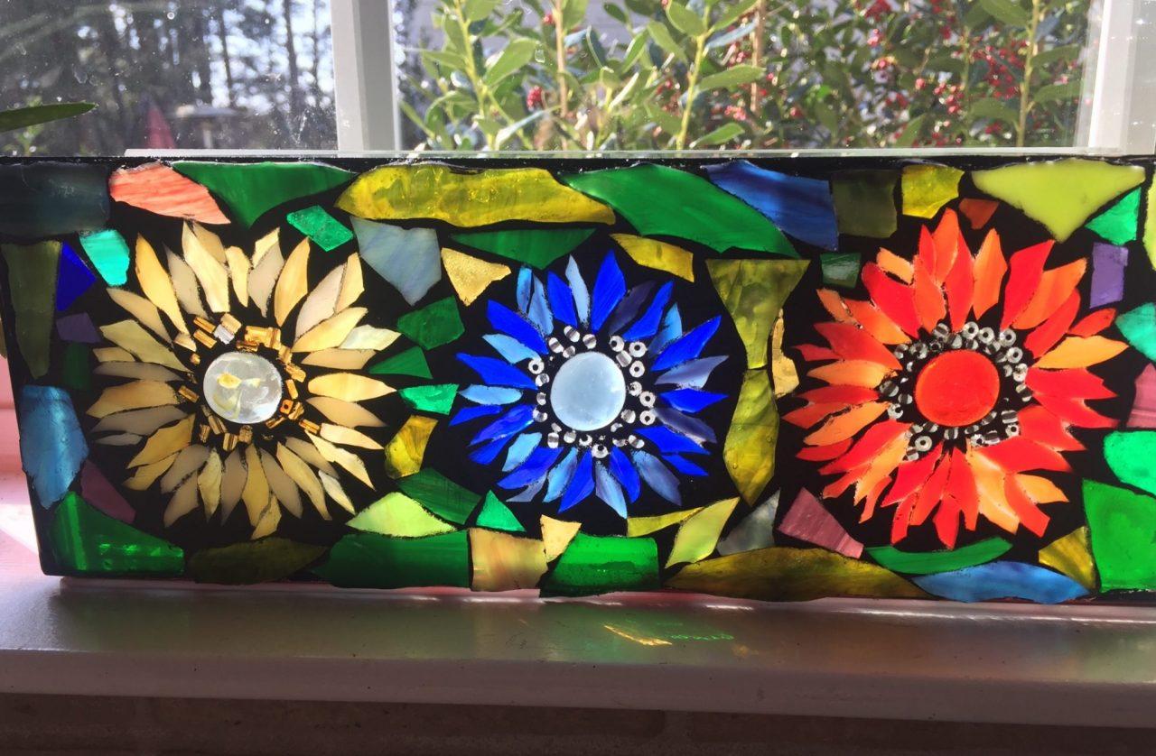 Angie's Glass Mosaic flower box