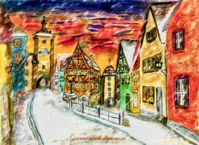 Rothenburg o. T. Watercolor painting