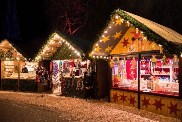 German Christmas market Huts