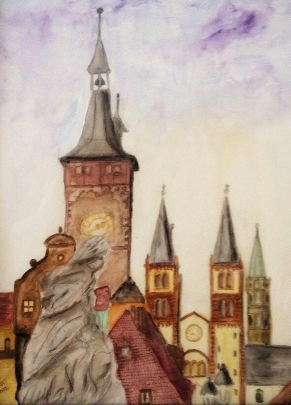 Wuerzburg Franconia painting by Germaniadesign.com