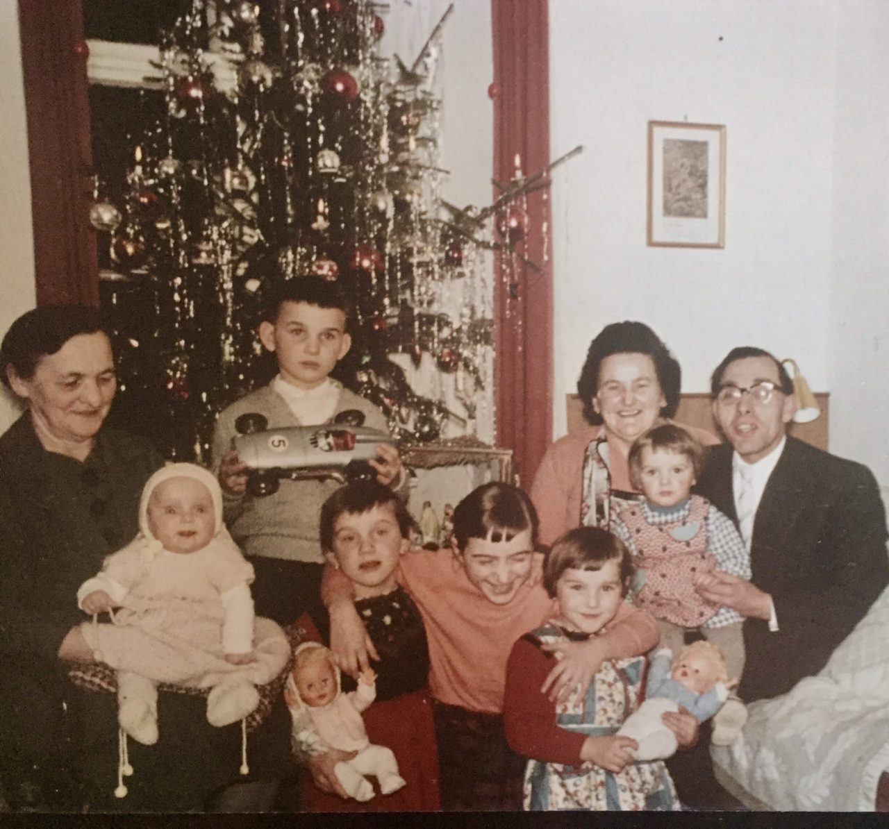 Weihnachten, German Christmas with Family 1960