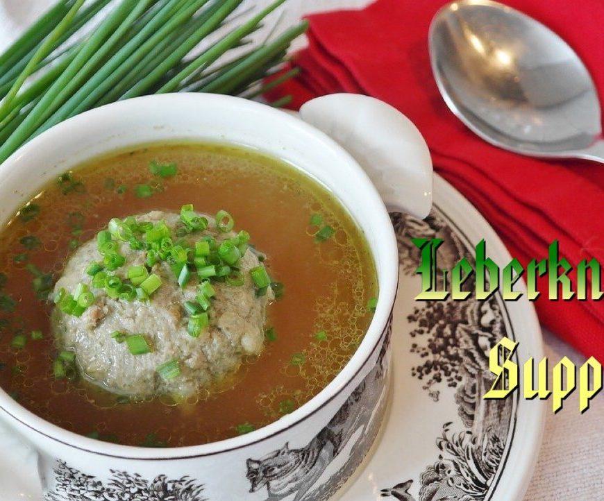 Leberknoedelsuppe, Liver dumpling soup