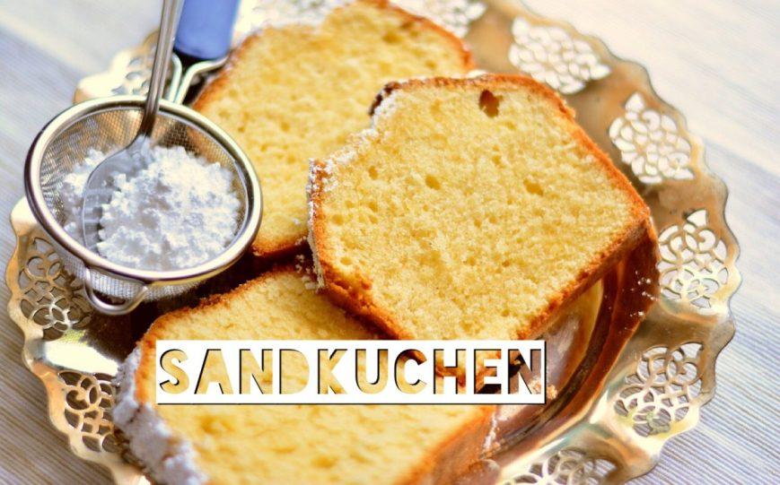 Sandkuchen, German vanilla pound cake