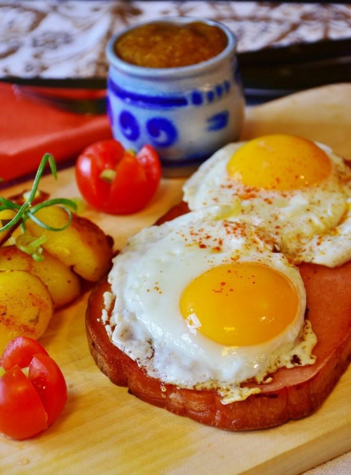 Leberkaese, Fleischäse with eggs