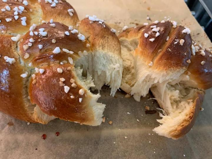Easter bread , sweet yeast bread