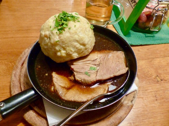 Pork roast in sauce and dumpling