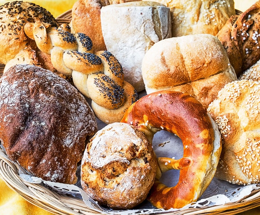 German pastries and rolls, german bread