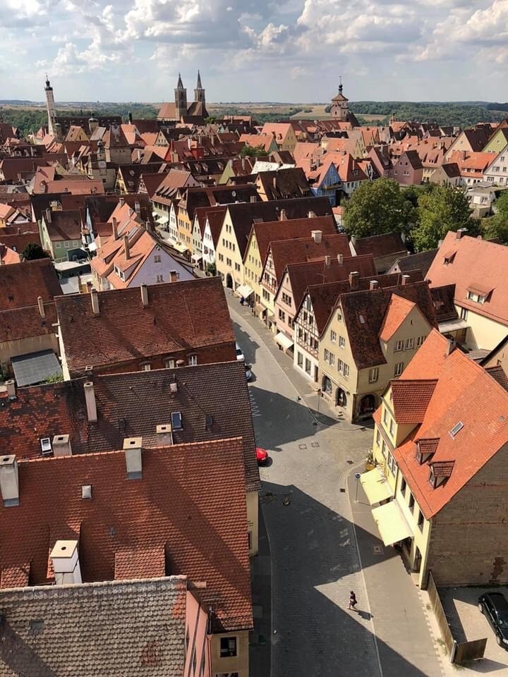 Rothenburg o. T. from above, Germany, Franconia