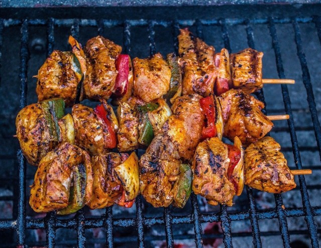 Schaschlik, Kebab in grill