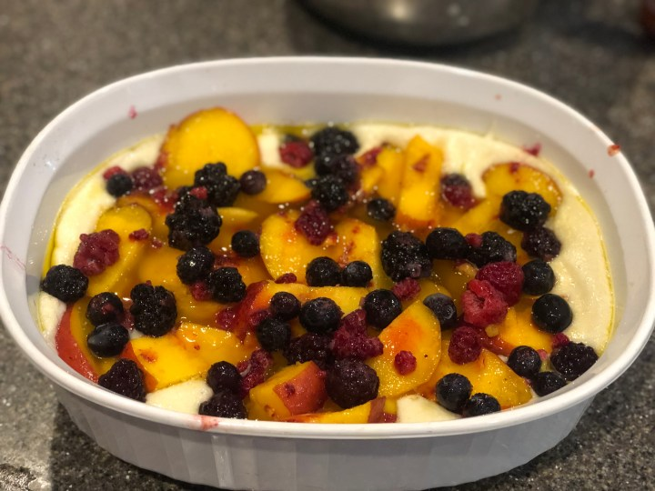 Peach and Berry Cobbler