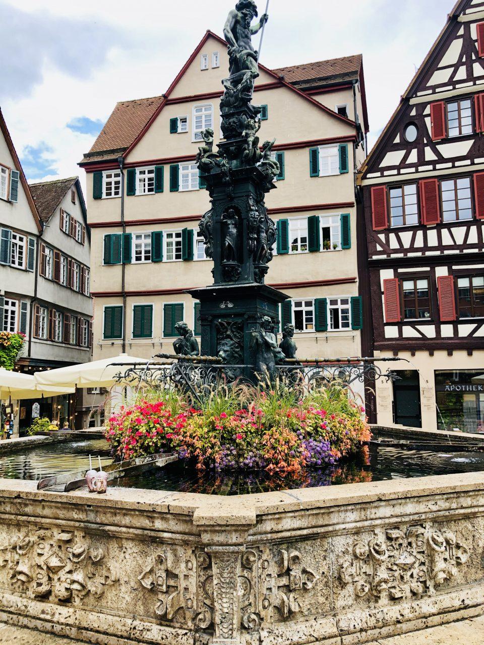 Tuebingen Marktplatz fountain