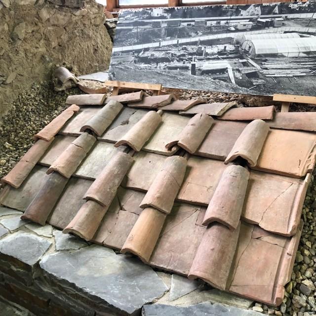 a Roman Terra Cotta Roof Barrel shaped roman ce, roman villa in Ahrweiler, Römervilla