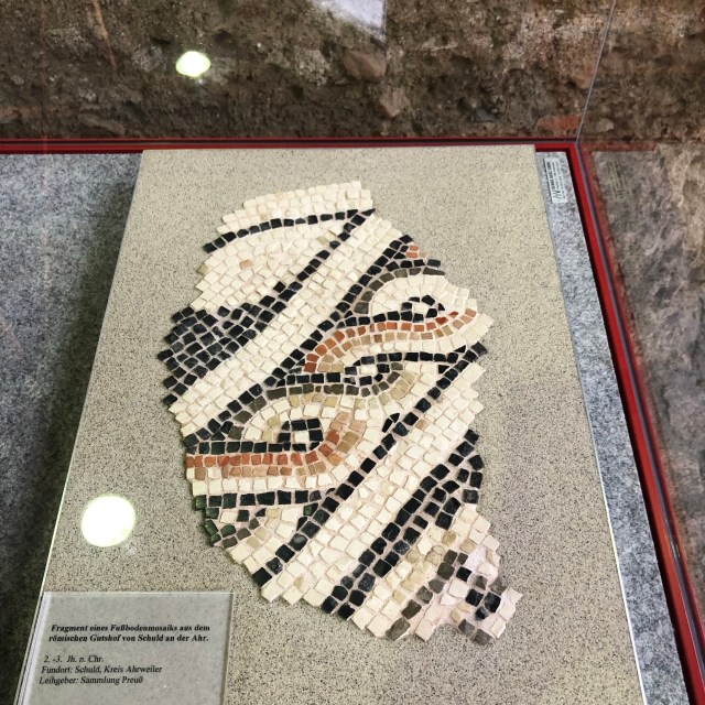 Roman Mosaic pieces,Roman villa in Ahrweiler, Römervilla
