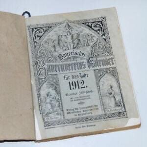 Old Bauernkalender, German Almanac 1912