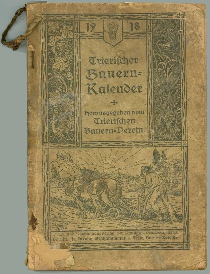 Old Bauernkalender, German Almanac 1918