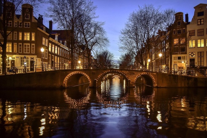 Boat ride in Amsterdam at night