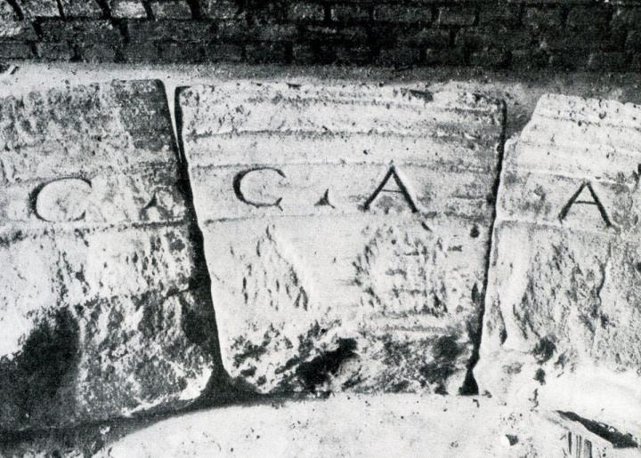 Roman engravings at the North Gate Cologne