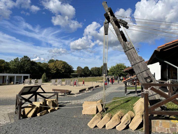 Pile drives for wooden bridge construction