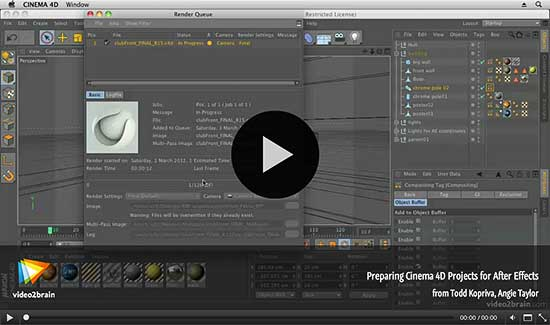 Preparing Cinema 4D projects for After Effects