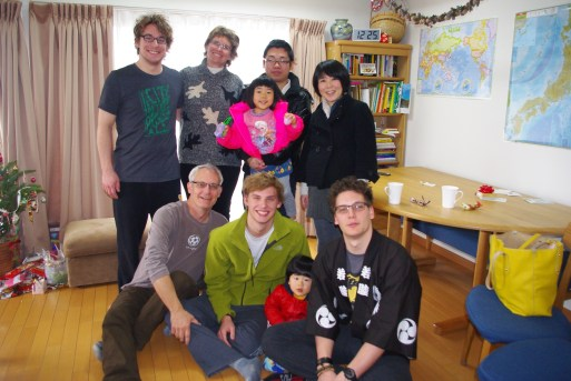 In Japan, expecting mothers are not out and about. My good friend, Tomoko stopped by with her entire family. This is such a statement of friendship on her part.