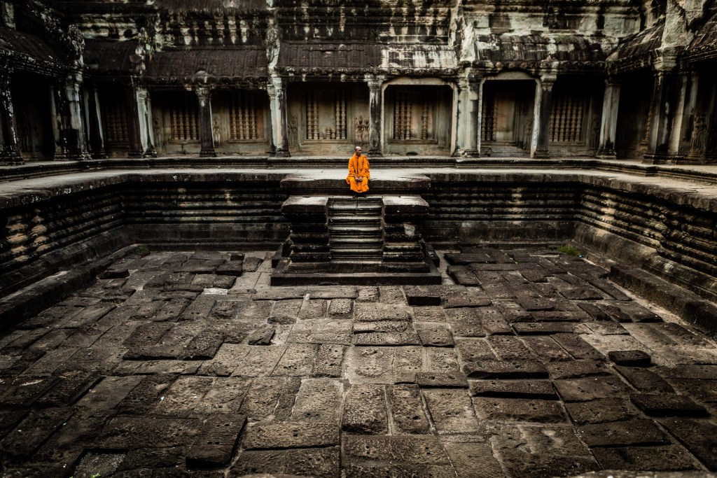 Angkor Wat with Monk