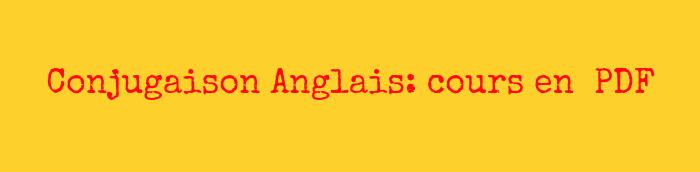 conjugaison anglais pdf