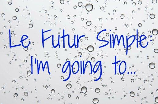 futur simple going to anglais