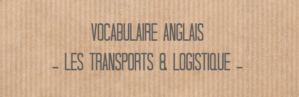 vocabulaire anglais transport