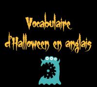 vocabulaire anglais halloween