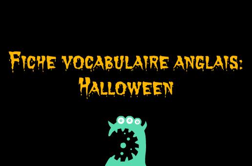 vocabulaire halloween anglais