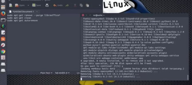 How to remove libreoffice from ubuntu Linux – the command line way !