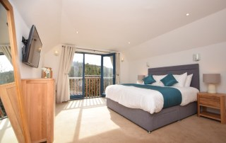 bedroom inside self catering accommoation