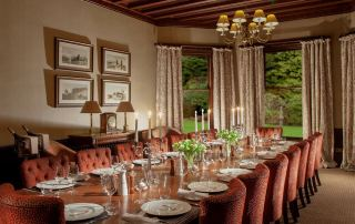 5* luxury dining room during fishing holiday