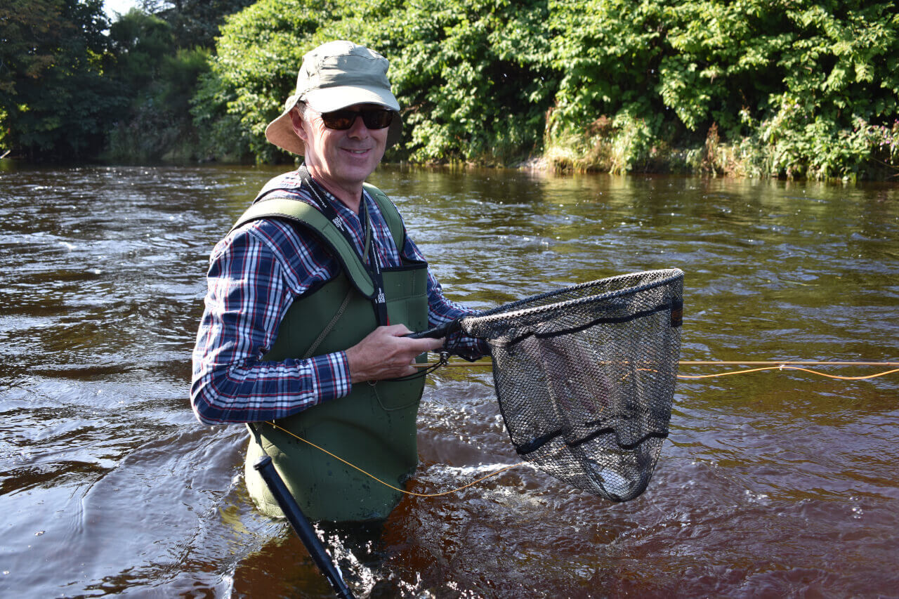 guided guest fly fishing for grayling in scotland