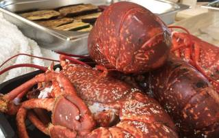 lobster prepared by private chef