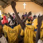 People worshiping in church in South Sudan