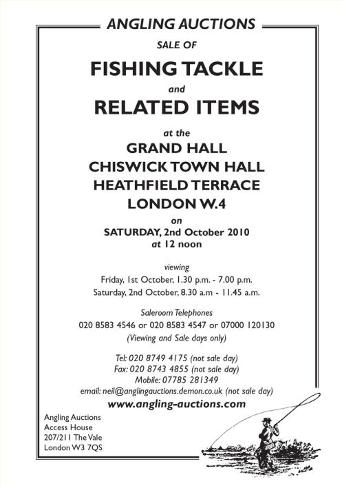 Angling auctions catalogue October 2010